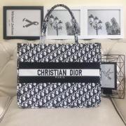 Dior AAA+ Handbag Dior Women Book Tote canvas tote embroidered shopping tote bag 41CM #99116974