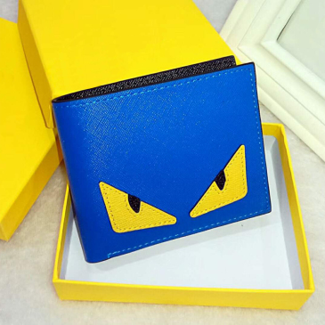Fendi High-quality pu leather fashion cross-wallet men's designer card wallets pocket bag European style brand purses with box with box #9874160