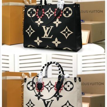 Hot sale Brand L CRAFTY ONTHEGO Monogram  handbag oversized print #99874622
