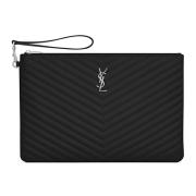 Saint Laurent Paris 2020 ladies' jacquard leather zipper briefcase #9873986