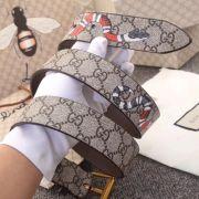 Gucci AAA+ Belts Gucci GG Supreme belt with Kingsnake print W3.5cm #99116811