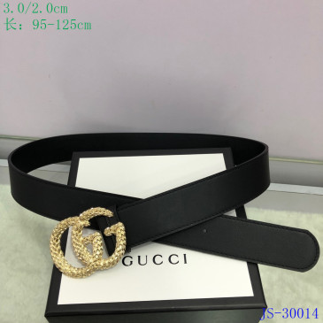 Gucci AAA+ Leather Belts W3cm #9129901
