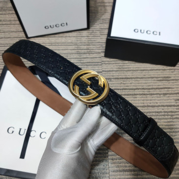 Gucci AAA+ Leather Belts W4cm #9129912
