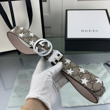 Gucci AAA+ Leather Belts  frosted cowhide W3.8cm #99116463