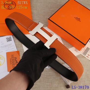 HERMES AAA+ Leather Belts W3.8cm #9129499
