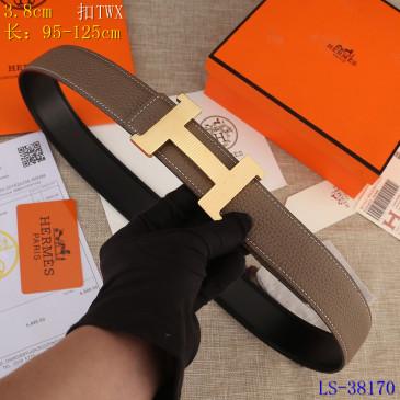 HERMES AAA+ Leather Belts W3.8cm #9129500
