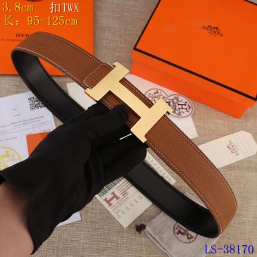 HERMES AAA+ Leather Belts W3.8cm #9129501