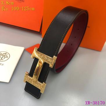 HERMES AAA+ Leather Belts W3.8cm #9129506