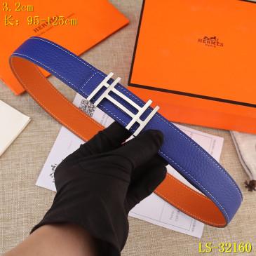 HERMES AAA+ Leather reversible Belts W3.2cm #9129544