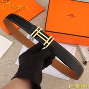 HERMES AAA+ Leather reversible Belts W3.2cm #9129545