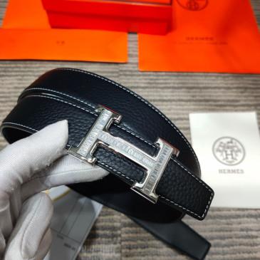 HERMES AAA+ reversible Leather Belts W3.2cm for women #9129513