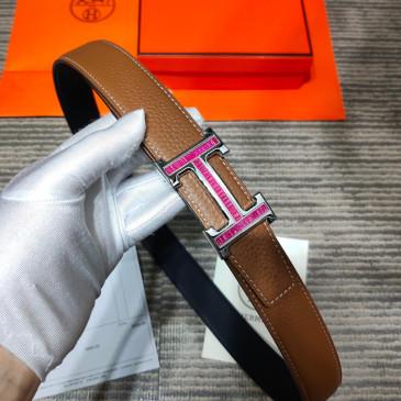 HERMES AAA+ reversible Leather Belts W3.2cm for women #9129515