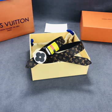 2020 Louis Vuitton AAA+ Leather Belts W2.5cm (4 colors) #9873564