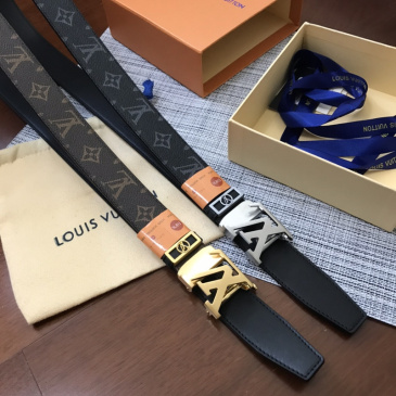 2020 Louis Vuitton AAA+ Leather Belts W3.4Cm #9873557