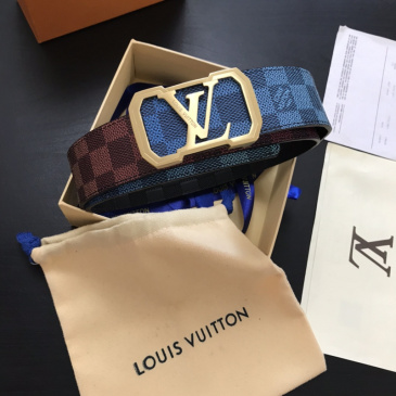 2020 Louis Vuitton AAA+ Leather Belts W4cm (4 colors) #9873563
