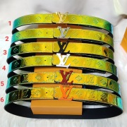 2020 Louis Vuitton AAA+ Leather Belts monogram prism LVshape W4cm #9873561