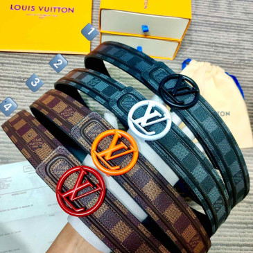 Louis Vuitton AAA+ Leather Belts W4cm #9129998
