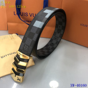 Men's Louis Vuitton AAA+ Leather Belts W4cm #9129993