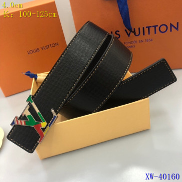 Men's Louis Vuitton AAA+ Leather Belts W4cm #9129995
