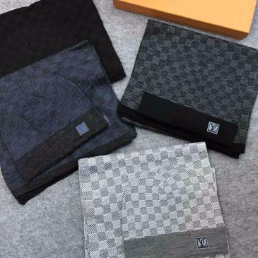 Brand L Wool knitted Scarf and cap 185*35cm #9130928