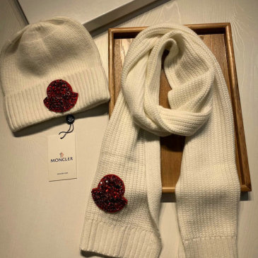Moncler Wool knitted Scarf and cap #999909572