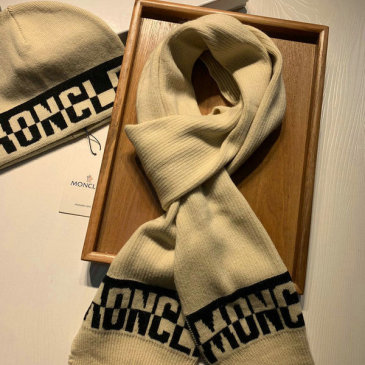 Moncler Wool knitted Scarf and cap #999909575