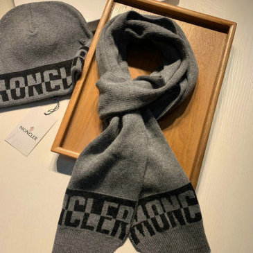 Moncler Wool knitted Scarf and cap #999909576
