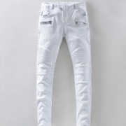 BALMAIN Men's White Long Jean #974812