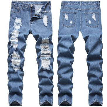 ripped jeans for Men's Long Jeans #99117338