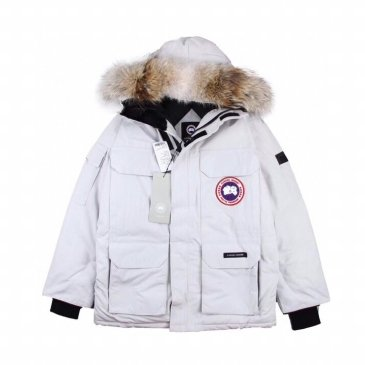 Canada goose jacket 19fw expedition wolf hairs 80% white duck down 1:1 quality Canada goose down coat for Men and Women #99899255