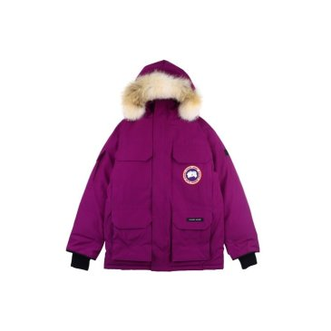 Canada goose women purple  jacket 19fw expedition wolf hairs 80% white duck down 1:1 quality Canada goose down coat #99899251