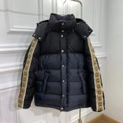 Gucci side logo ribbon GG dark jacquard down jacket #99874779