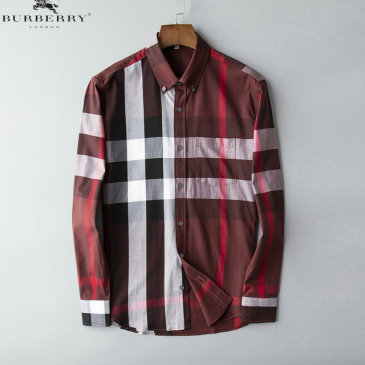 Burberry Shirts for Men's Burberry Long-Sleeved Shirts #9125017