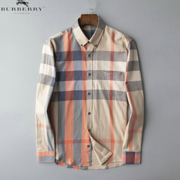 Burberry Shirts for Men's Burberry Long-Sleeved Shirts #9125019
