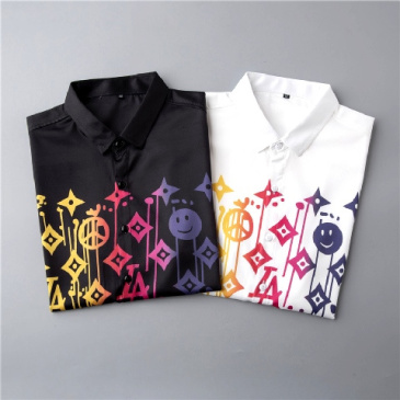 Louis Vuitton shirts for Louis Vuitton short-sleeved shirts for men #9874426