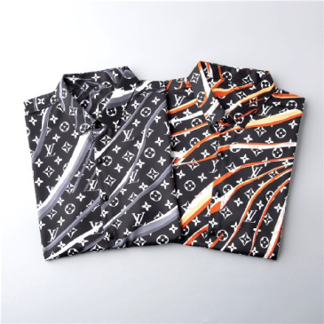Louis Vuitton shirts for Louis Vuitton short-sleeved shirts for men #9874427