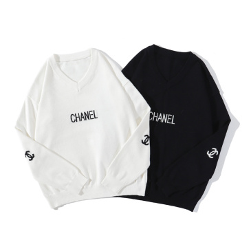 Chanel sweaters for men and women White/Black #99898751