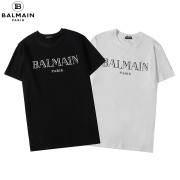 2020 Balmain Classic short sleeve style for men and women in black and white #99117695