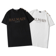 Balmain T-Shirts 2020 new short sleeve ironing and drilling pattern gold buckle #99117691