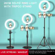 Selfie Ring Light with Tripod Stand & Cell Phone Holder for Live Stream/Makeup, Mini Led Camera Ringlight for YouTube Videos/Photography #99906251