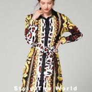luxury brand Shirt-collar dress #9120010