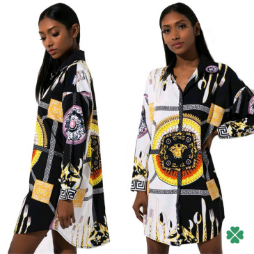 Versace Digital printed shirt dress #99116378
