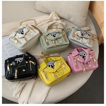Shangxin girl's bag 2020 new Korean fashion chain small suit slant straddle bag personality single shoulder small square bag #99874312