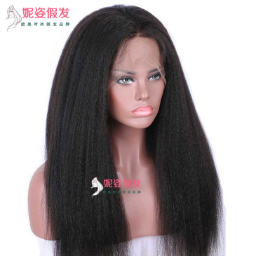 New product explosions Europe and America wigs women front lace chemical fiber long straight hair wig set factory spot wholesale LS-037 #9117090