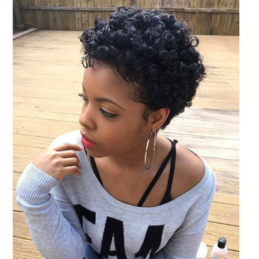 Wig female fashion African women Bobo middle-aged and elderly black wave short curly hair #999909700