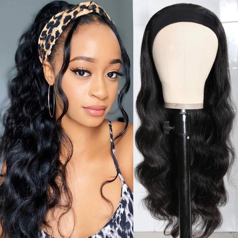 wig female ice silk hair with hair scarf wig body big wave long curl wig chemical fiber hair set (240g, 22in) #999909686