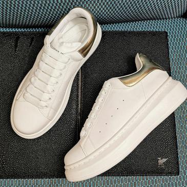 Alexander McQueen Shoes for Men's McQueen Sneakers White Shining golden #99874469
