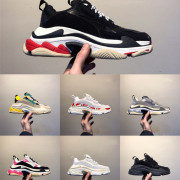 2019 Luxury Platform Ace 17FW men women Triple s Gym Red Blue Triple Black Low Old Dad Vintage Casual shoes Triple-S Sneakers #9130732
