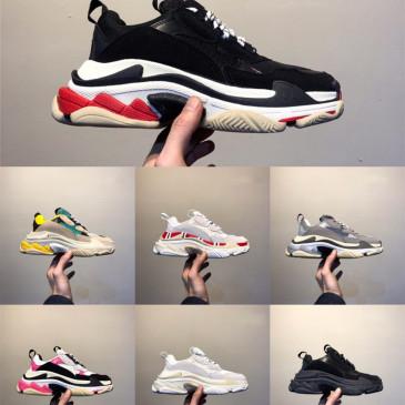 2019 Luxury Platform Ace 17FW men women Triple s Gym Red Blue Triple Black Low Old Dad Vintage Casual shoes Triple-S Sneakers #9130732