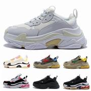Paris 17FW Triple-S Walking Shoe Luxury Dad Shoes Chaussures Femme Triple S 17FW Designer Sneakers for Men Women Vintage Old Grandpa Trainer #9130731